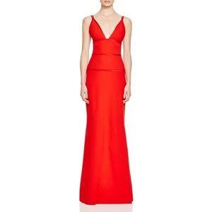 Red Jill Stuart Form Gown Dress 0 NWT
